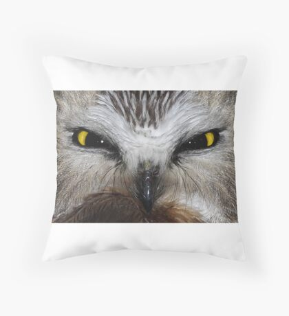 Saw-whet Owl...Saw-eeet! Throw Pillow