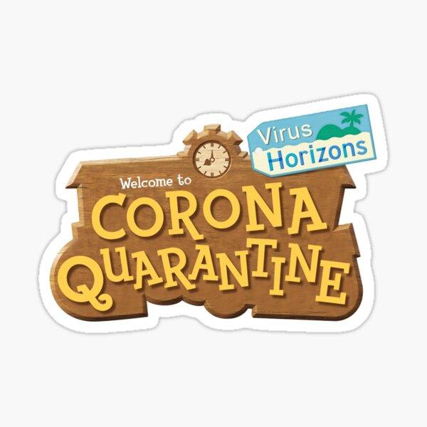 Corona Quarantine - Animal Crossing New Horizons Meme Parody Logo  Sticker