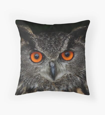 Eurasian Eagle-Owl Throw Pillow