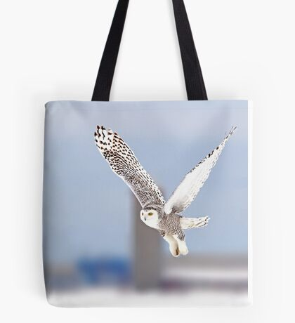 Along a country road - Snowy Owl Tote Bag