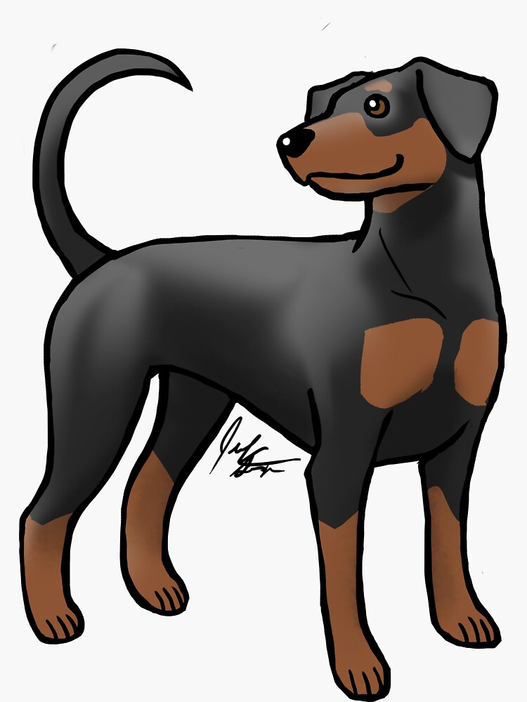 Doberman Pinscher - Brown and Red by jameson9101322