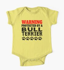 Protected By A Bull Terrier Kids Clothes