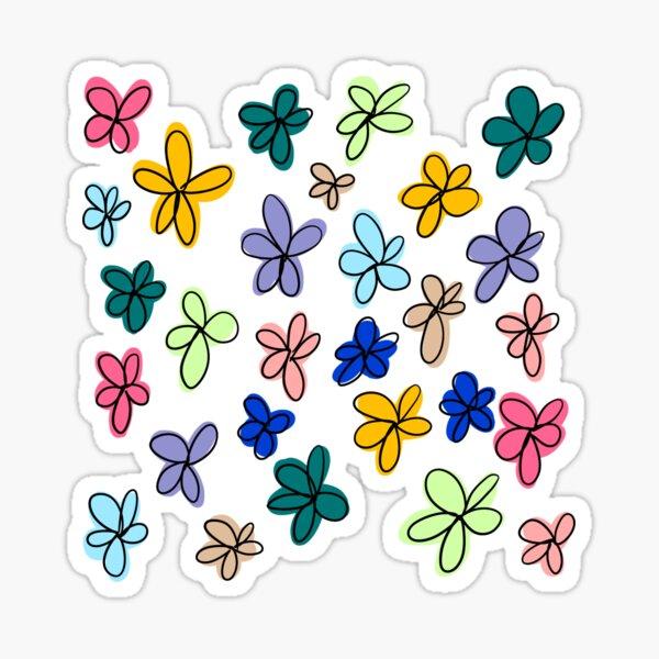 Colorful Flower Doodle Sticker Pack Sticker