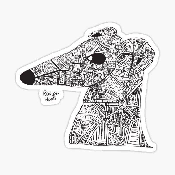 Robot Whippet / Greyhound Sticker