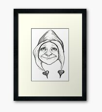 """""""The one with hearts"""" Framed Print"""