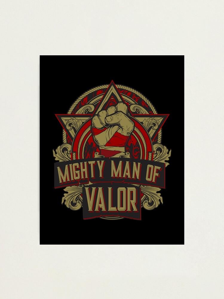 Alternate view of Mighty Man of Valor Photographic Print