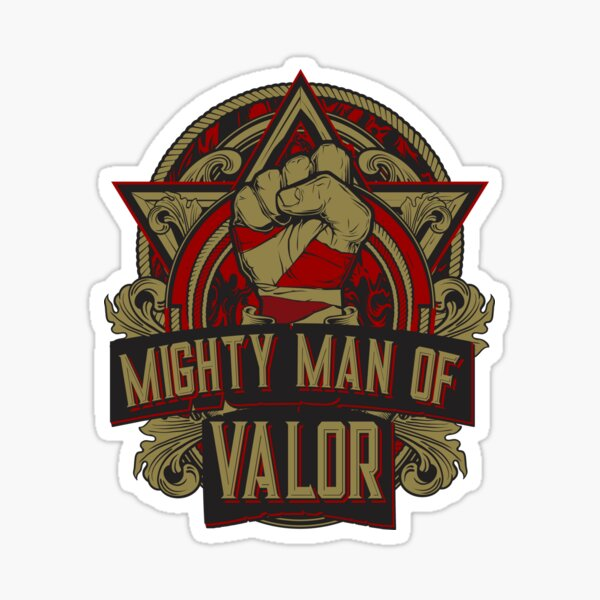 Mighty Man of Valor Sticker