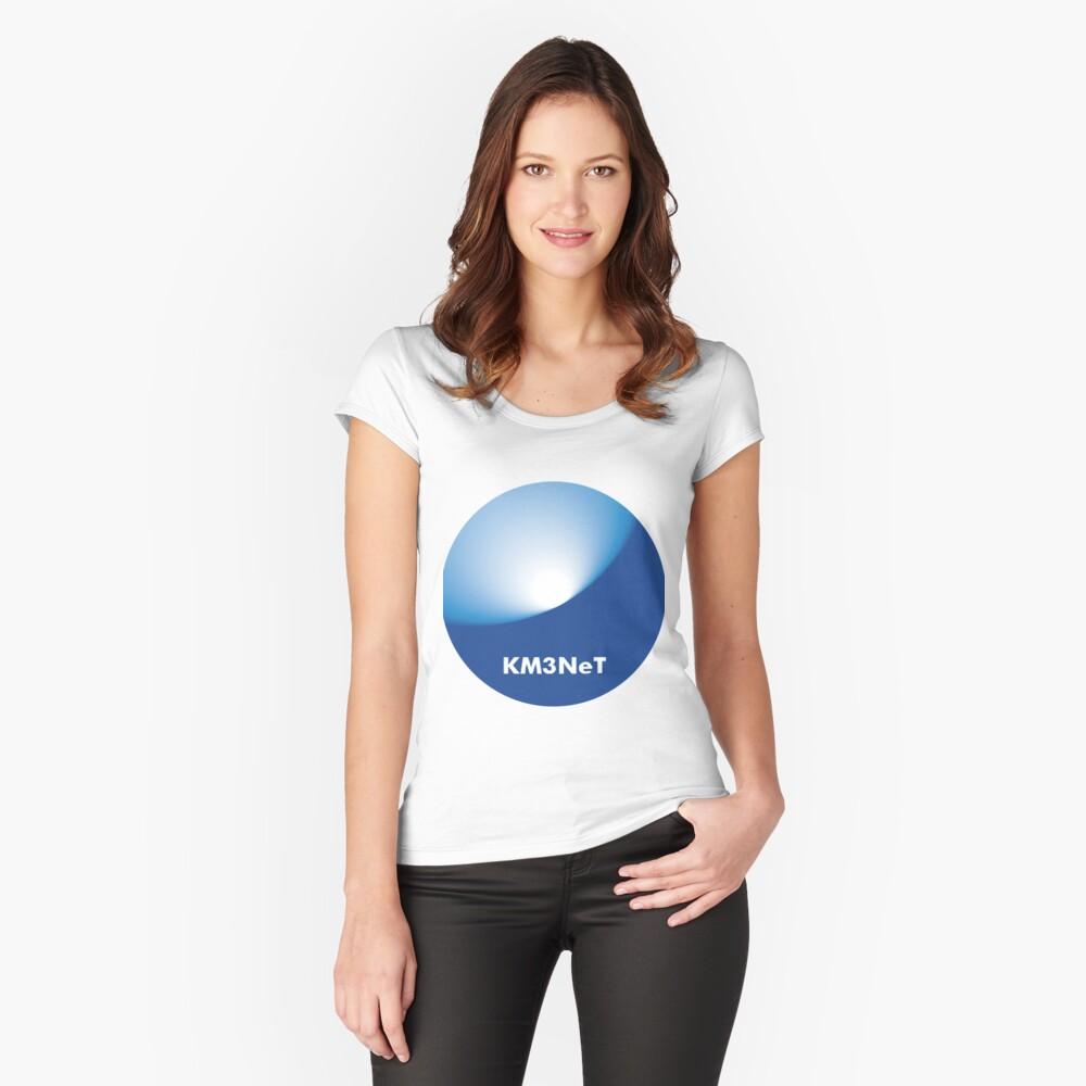 KM3NeT Logo Tailliertes Rundhals-Shirt