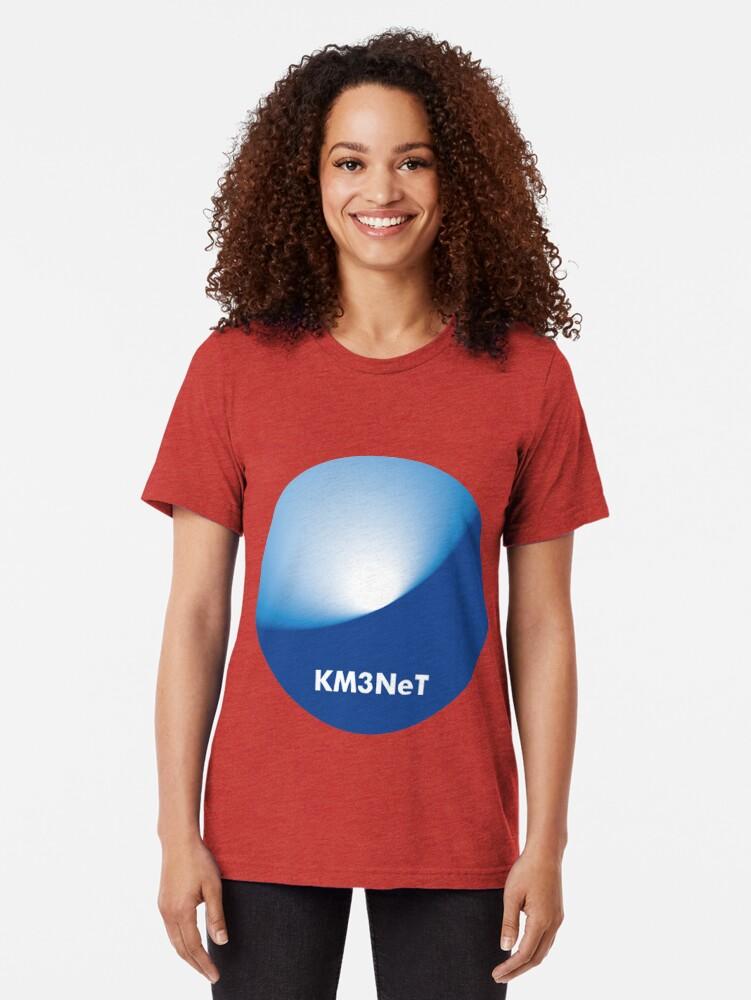 Alternative Ansicht von KM3NeT Logo Vintage T-Shirt