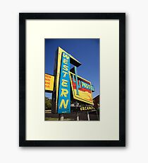 Route 66 - Western Motel Framed Print