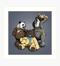 The Three Angry Bears Art Print