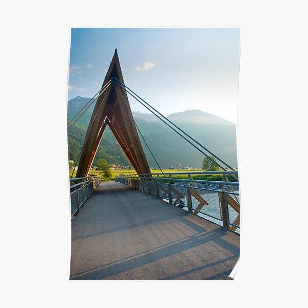 Bridge over the River Lech Poster