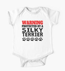 Protected By A Silky Terrier One Piece - Short Sleeve