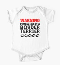 Protected By A Border Terrier One Piece - Short Sleeve