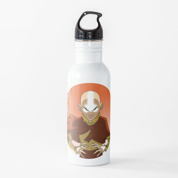 Aang Avatar The Last Airbender Action Anime Meme Water Bottle