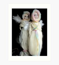 wool angel dolls Art Print