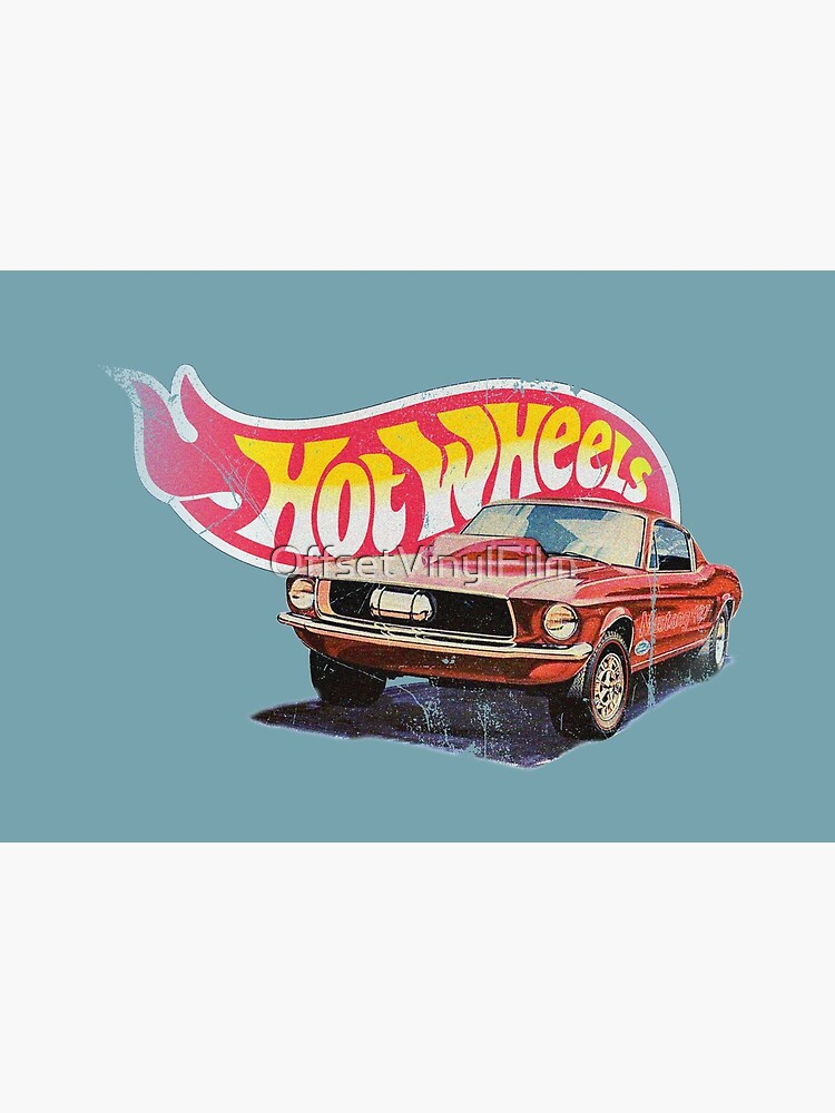 Authentic Vintage, Distressed Hot Wheels 1968 Custom Mustang by OffsetVinylFilm