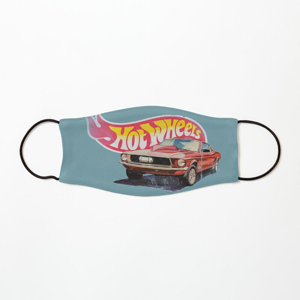 Authentic Vintage, Distressed Hot Wheels 1968 Custom Mustang Mask