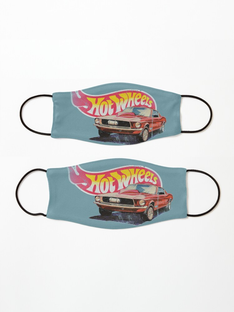 Alternate view of Authentic Vintage, Distressed Hot Wheels 1968 Custom Mustang Mask