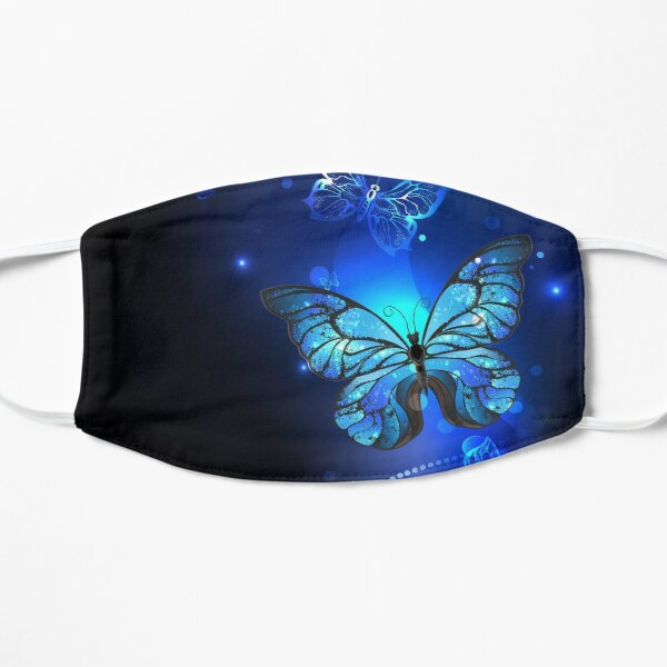 Morpho Butterfly in the Dark Mask