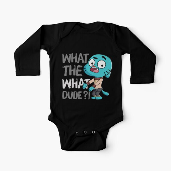 WHAT THE WHAT DUDE ?! Long Sleeve Baby One-Piece