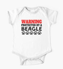 Protected By A Beagle One Piece - Short Sleeve
