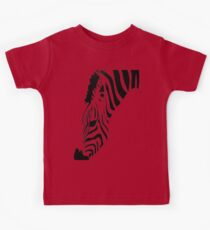Grazing Zebra Vector Isolated On White Kids Clothes