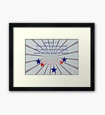 The Heavens and Earth Were Finished . . . Framed Print