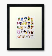 Breakfast Mascot Alphabet Framed Print