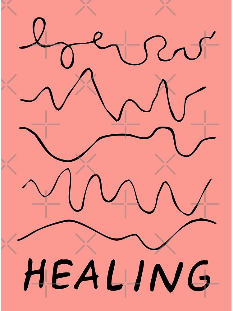 healing is not linear | healing squiggles  by craftordiy
