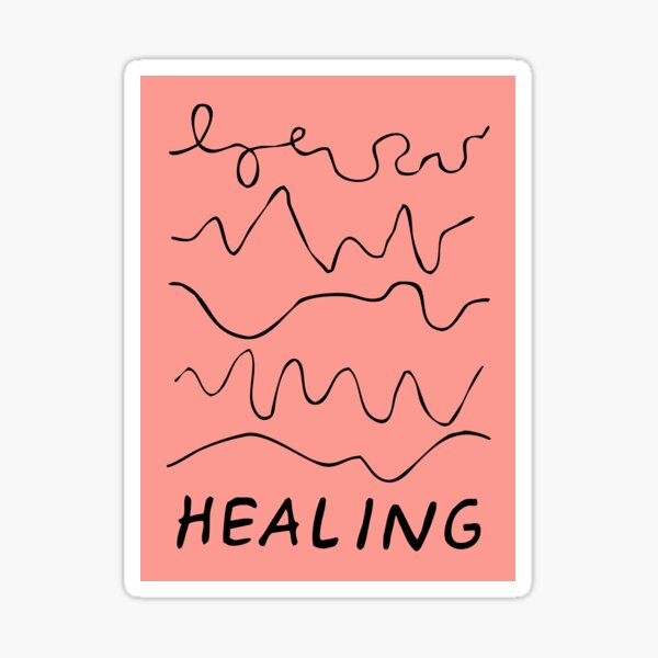 healing is not linear | healing squiggles  Sticker
