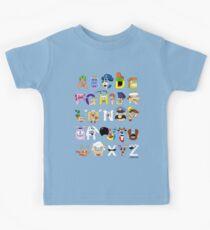 Breakfast Mascot Alphabet Kids Tee