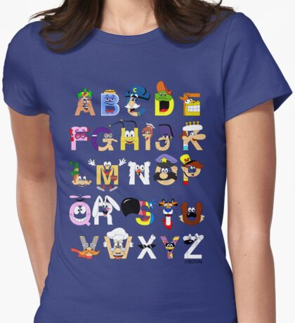 Breakfast Mascot Alphabet T-Shirt