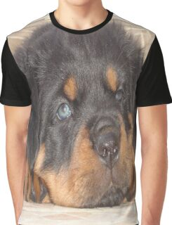 Adorable Rottweiler Puppy With Blue Eyes Graphic T-Shirt