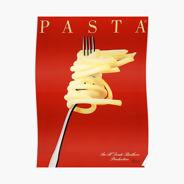 PASTA AL DENTE Razzia Posters French Art Deco Vintage Advertisement Poster