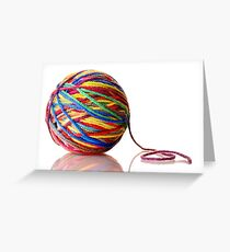 ball of yarn Greeting Card