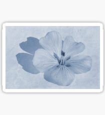 Linen Watercolour Cyanotype Sticker