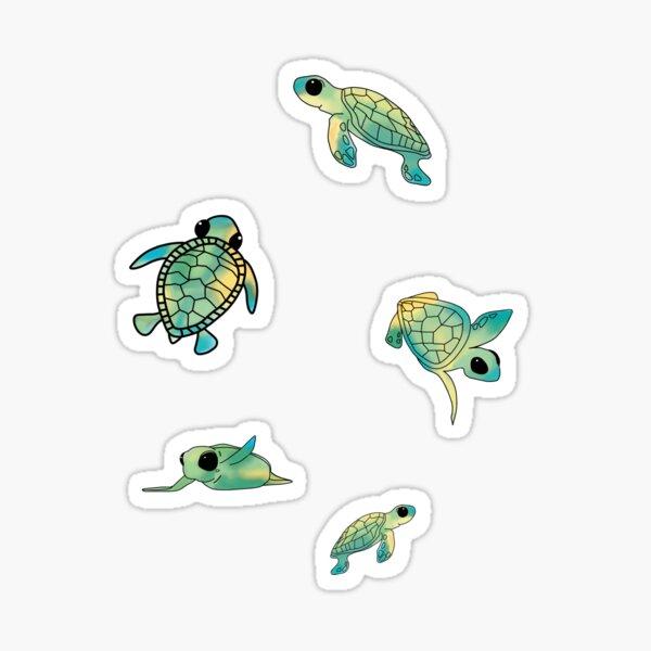 Green Baby Sea Turtle Minis Sticker