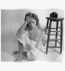 Edward Acker Portrait mit Hocker Poster