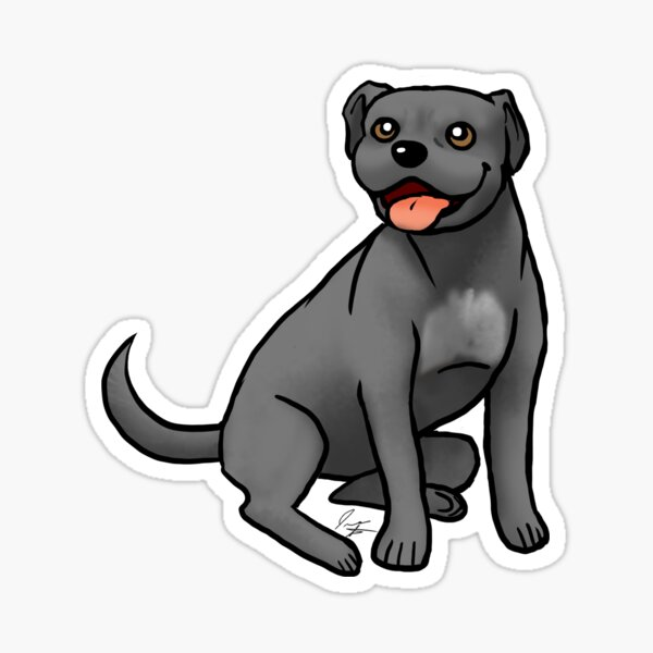 American Pit Bull Terrier - Black Sticker