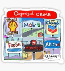 """""""Organized Crime"""" Sticker"""