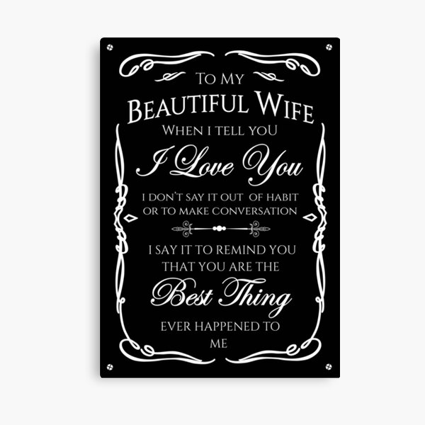 Best gift to Wife Say I Love You Canvas Print