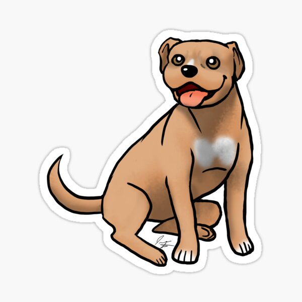American Pit Bull Terrier - Red Sticker