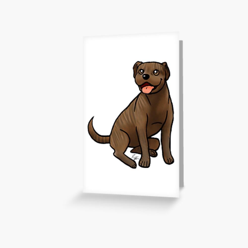 American Pit Bull Terrier - Brindle Greeting Card