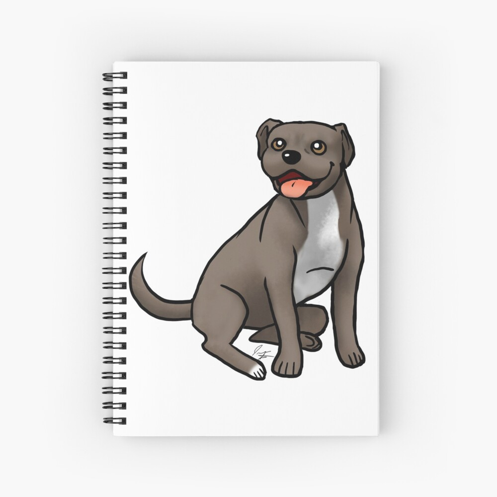 American Pit Bull Terrier - Brown and White Spiral Notebook