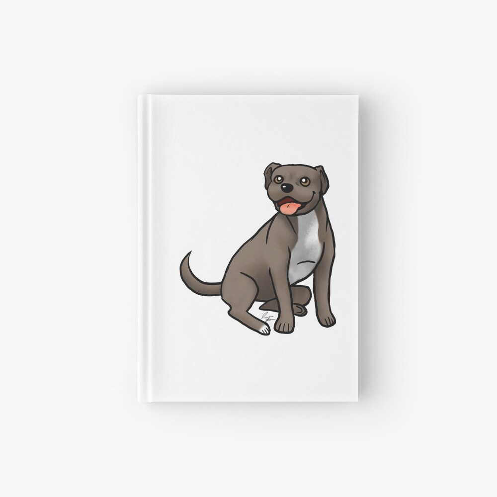 American Pit Bull Terrier - Brown and White Hardcover Journal