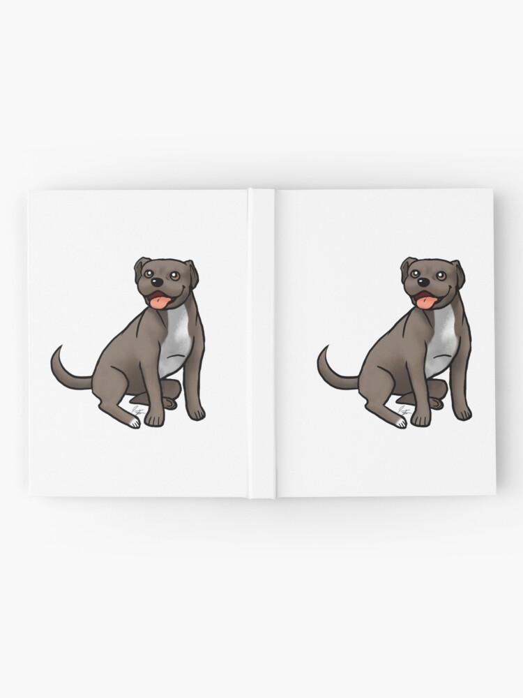 Alternate view of American Pit Bull Terrier - Brown and White Hardcover Journal