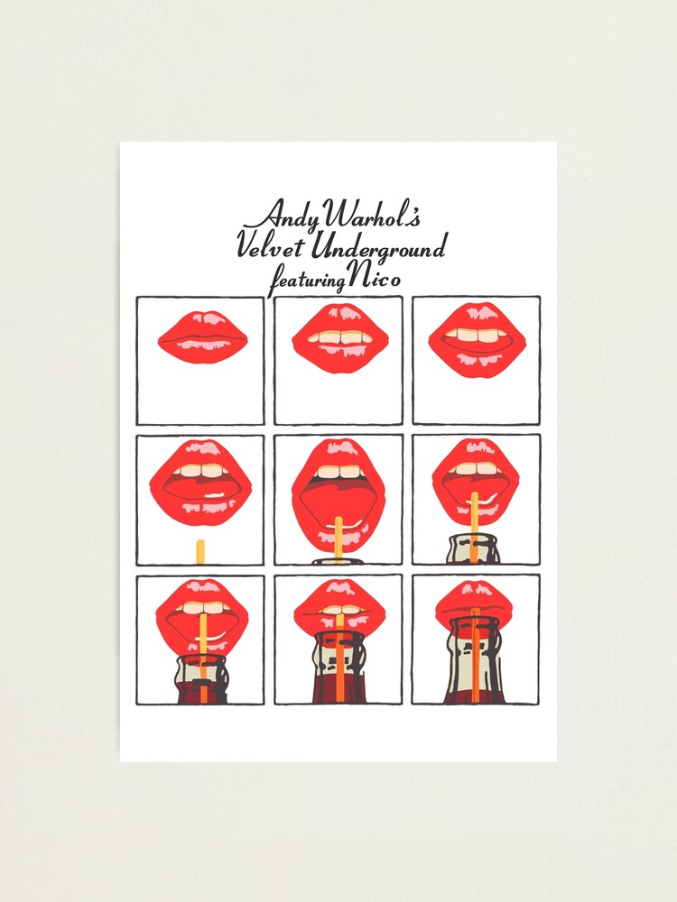 Alternate view of Andy Warhol's Velvet Underground featuring Nico Poster, Shirt, Sticker, Mask Photographic Print