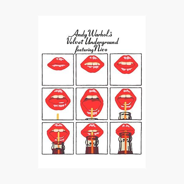 Andy Warhol's Velvet Underground featuring Nico Poster, Shirt, Sticker, Mask Photographic Print