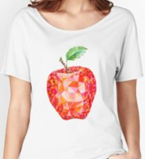 Low Poly Watercolor Apple Women's Relaxed Fit T-Shirt